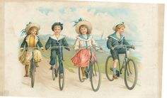 chr litho fietsende kinderen 1904 | Flickr - Photo Sharing!