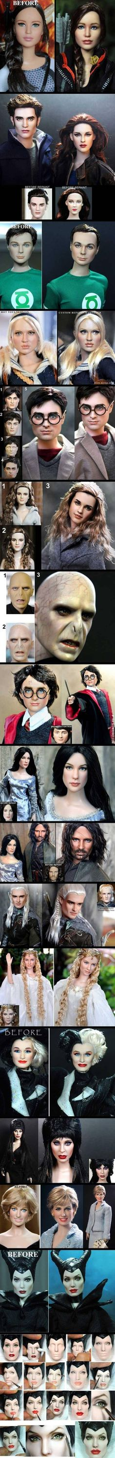 This guy repaints doll faces. (I want one)