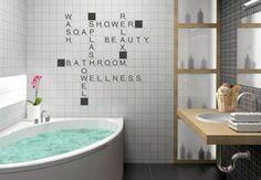 Adesivi murali - Adesivo murale  Gioco di parole Bathroom