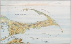 - Birds-eye view of Cape Cod 1905.