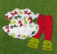 CHRISTMAS IN JULY! Such a cute outfit to get ordered early for your little deer! Click our website link!     Divas on a dime coop, baby girl, toddler girl, little girls, outfits, fashionista, icings, boutique outfit, headbands, leggings, holiday, Christmas, reindeer, deer