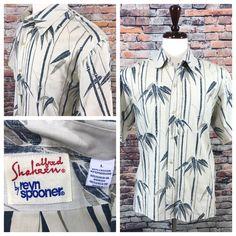 47186d83d Men s Alfred Shaheen by Reyn Spooner Bamboo print Hawaiian shirt size Large