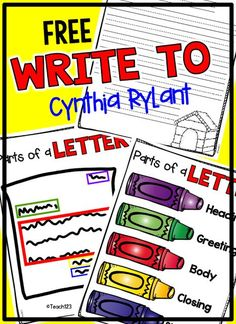 Cynthia Rylant is a favorite author of my students every year. It seems like all students either have a dog or want a dog. When I introduce a Henry and Mudge book, I am guaranteed to have a captive audience.FREE Cynthia Rylant writing templates and morning messages. Plus, paid packets.