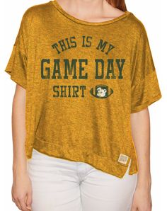 "Baylor ""This Is My Game Day Shirt"" crop T-shirt"