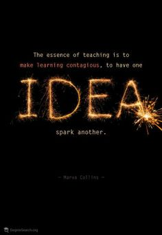STEMists are empowered to trust the sparks of their ideas. #STEM #STEMISTS #IDEAS #TEACHING #EDUCATION #MARVACOLLINS #QUOTES