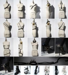 (IN)DECOROUS TASTE - Harnesses w/Crystals & Spikes