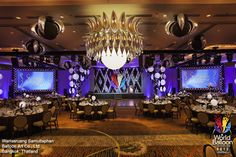 Grand Gala decor at the World Balloon Convention 2012. Design by Warrasruang Samuttaphan of Balloon Art Co., Ltd. in Bangkok, Thailand.