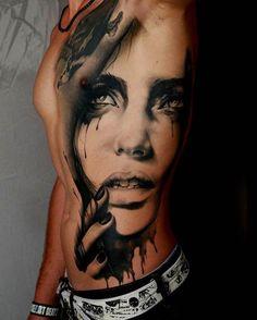 Black & Grey Tattoo from Marcel Daatz. #inked #inkedmag #tattoo #art #idea…