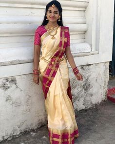 Dharsha Gupta.. Indian Flowers, Grace Beauty, Half Saree, Beautiful Saree, Wedding Styles, Sari, Actresses, Angels, Tops