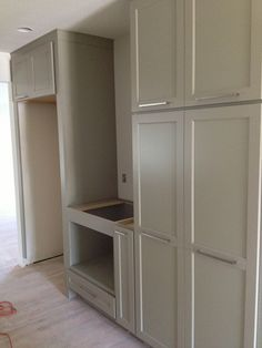 Home Depot Martha Stewart cabinetry line, Ox Hill PureStyle door style in Ocean Floor finish with Metrik Pulls from Ikea