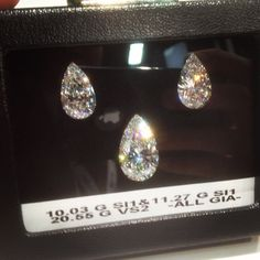 10, 11 & 20+ Caraters  Pearshape Cut #Diamond #diamonds #JCK #Jewelry Market Week #OKC #Jeweler