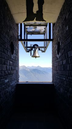 Monte Tamaro 6- Beautiful view framing with the bell.