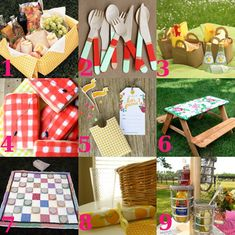 PICNIC DIY cutlery holders, picnic baskets, picnic blankets...too cute