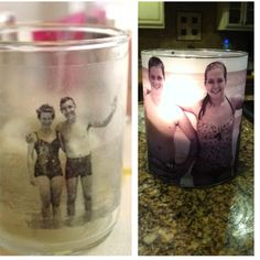 personalized picture candle holder!