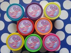 8 Abby Cadabby miniature play dough for party favors by bellecaps