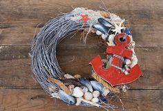 seashell wreath nautical wreath nautical decoration by mamwene