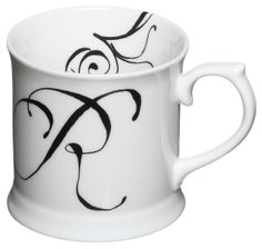 Rosanna Initially Yours Mug Letter R : Amazon.com : Kitchen & Dining