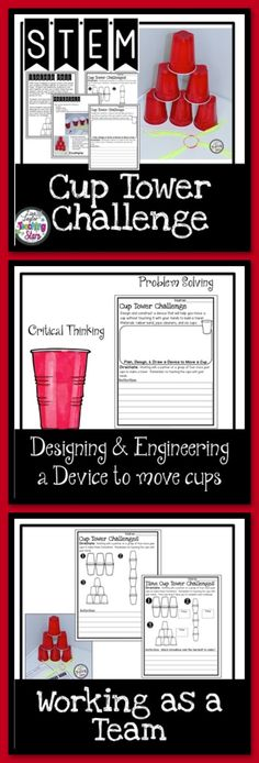 STEM Cup Tower Challenge is a challenge your students will love while learning to work in a group. Students will create a device to move cups to stack in a tower formation. This activity can also be used for STEAM Activities, Maker Spaces, Tinkering Labs, or After School Clubs.