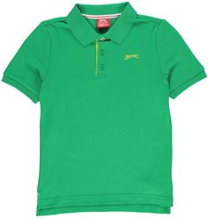 Slazenger Plain Polo Shirt Junior Boys available online now - order yours Today! Plain Polo Shirts, Bright Green, Kids Outfits, Polo Ralph Lauren, Boys, Mens Tops, Europe, Clothes, Usa