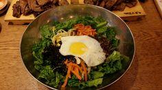 A large, delicious bowl of #bibimbap (#비빔밥) in #Seoul, #Korea.