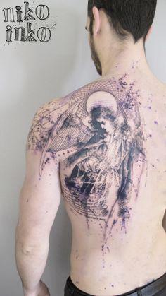 Niko Inko à Belly Button Tattoo Shop Incredible Tattoos, Beautiful Tattoos, Beautiful Body, Collage Tattoo, Modern Art Tattoos, Special Tattoos, Gothic Tattoo, Original Tattoos, Love Tattoos