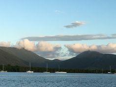Cairns at dusk