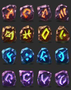 ArtStation - Runes, Rahul Venkatesh Red Lantern Corps, Magic Hat, Game Ui Design, Fantasy City, Game Icon, Art Base, My Character, Runes, Krishna
