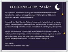 Bir hayalim var! http://www.isikoren.com/hayal/ #egitim #seminer #motivasyon #basari