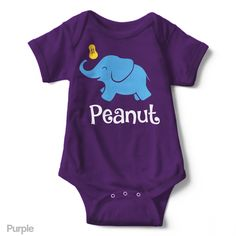 Peanut (Elephant) - Short Sleeve Infant Creeper