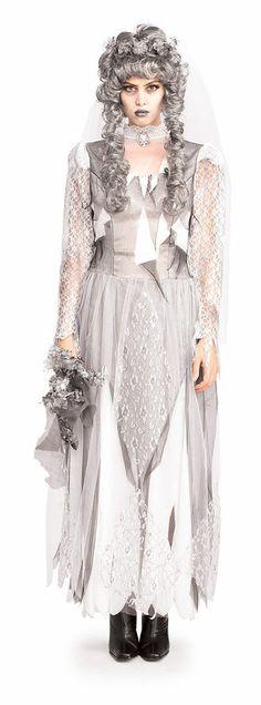 Disfraz chica Novia Cadáver Disfraz chica Novia Cadáver, compuesto por: vestido, velo, ramillete y broche.