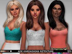 Sims Addiction: Ade Darma`s Kardashian hair retextured by Margie Sims  - Sims 4 Hairs - http://sims4hairs.com/sims-addiction-ade-darmas-kardashian-hair-retextured-by-margie-sims/