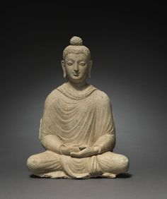 Seated Buddha, c. 4th Century Afghanistan or Pakistan, Gandhara, probably Hadda…