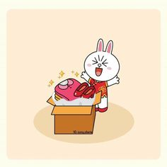 When Cony receives her online shopping package😆 Cute Love Gif, Cute Love Pictures, Cony Brown, Brown Bear, Line Cony, Brown Line, Browns Gifts, Cute Love Cartoons, Line Friends