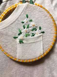 Embroidery Stitches 50 Easy DIY Embroidery Shirt Designs You Can Do By Hand - The Thrifty Kiwi - A closet staple that's currently trending is embroidered apparel. Albeit charming, the quirky embroidery designs you adore are not at the… Diy Embroidery Shirt, Embroidery Art, Cross Stitch Embroidery, Diy Clothes Embroidery, Embroidered Shirts, Embroidered Flowers, Embroidery Hoops, Hand Embroidery Stitches, Diy Embroidery Flowers