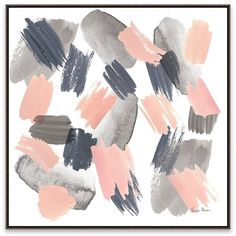Gray Pink Mist Framed Canvas Art Print ($60) ❤ liked on Polyvore featuring home, home decor, wall art, pink flamingo wall art, framed abstract wall art, pink canvas wall art, abstract wall art and gray wall art