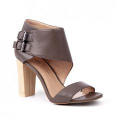 Women's Luggage Leather 3 1/2 Inch Block Heel | Tamia by Julianne Hough