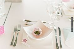 origami place setting ideas | CHECK OUT MORE IDEAS AT WEDDINGPINS.NET | #wedding