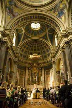 A stunning picture of The Brompton Oratory, London