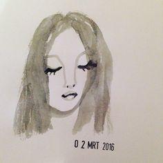 Drawing watercolour Heleen Peeters illustratie
