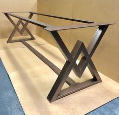 The Diamond Dining Table Base, Industrial Base, Sturdy Heavy.- The Diamond Dining Table Base, Industrial Base, Sturdy Heavy Duty Dining Table Base - Steel Table Legs, Steel Dining Table, Dining Table Legs, Wood Table, Dining Table Design, Kitchen Tables, Welded Furniture, Steel Furniture, Fine Furniture
