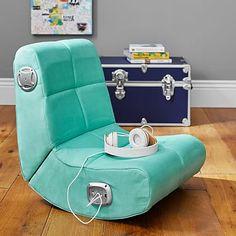 Suede Mini Rocker Speaker Chair, Pool