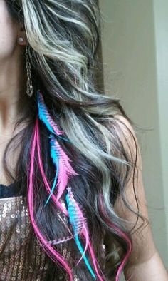 feather hair extensions ::::: I just saw these on the hair  beauty Column and I got excited because it ordered these on amazon like a week ago