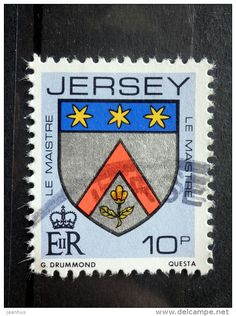 """Jersey - - - Used - family coat of arms - Le Maistre """" Sale On, Coat Of Arms, Symbols, Family Crest, Icons, The Sentence"""