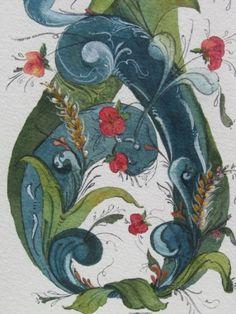 watercolor rosemaling