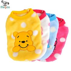 Cartoon Small Dog Clothes Soft Fleece Winter Warm Cup Dog Vest New Born Puppy Clothing #>=#>=#>=#>=#> Click on the pin to check out discount price, color, size, shipping, etc. Save and like it!