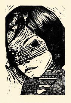 free print! by padlaversusmoij http://flic.kr/p/7wtBoz. EDIT: i... flickr image padlaversusmoij portrait linoleum fecalface mikelay lydiakathar