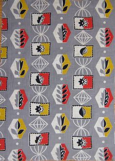Vintage Atomic 50s Fabric on Etsy, £12.00