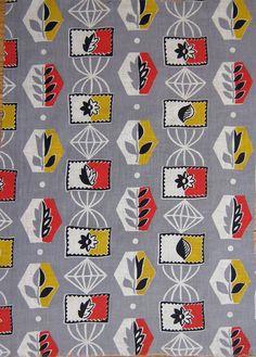 Vintage Atomic 50s Fabric