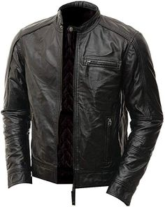 Leather Lovers Mens Lambskin Leather Motorcycle Biker Jacket 2X Large Black