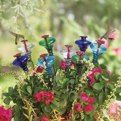 These are adorable!  Mini Blossom™ Classic on a Stake – HummingbirdHQ.com